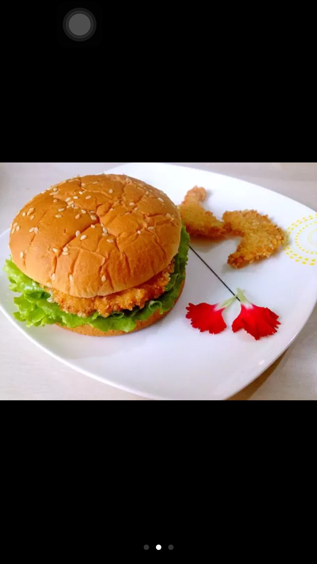 难度:切墩(初级)   主料 鸡胸肉 面粉 鸡蛋 面包糠 汉堡包的做法步骤
