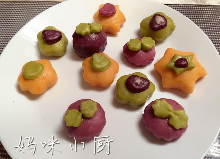 多彩果蔬卡通馒头
