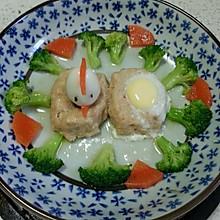 鲜虾鸡茸饼蒸面粉蛋(宝宝牌子)做鹌鹑什么面包的食谱好图片