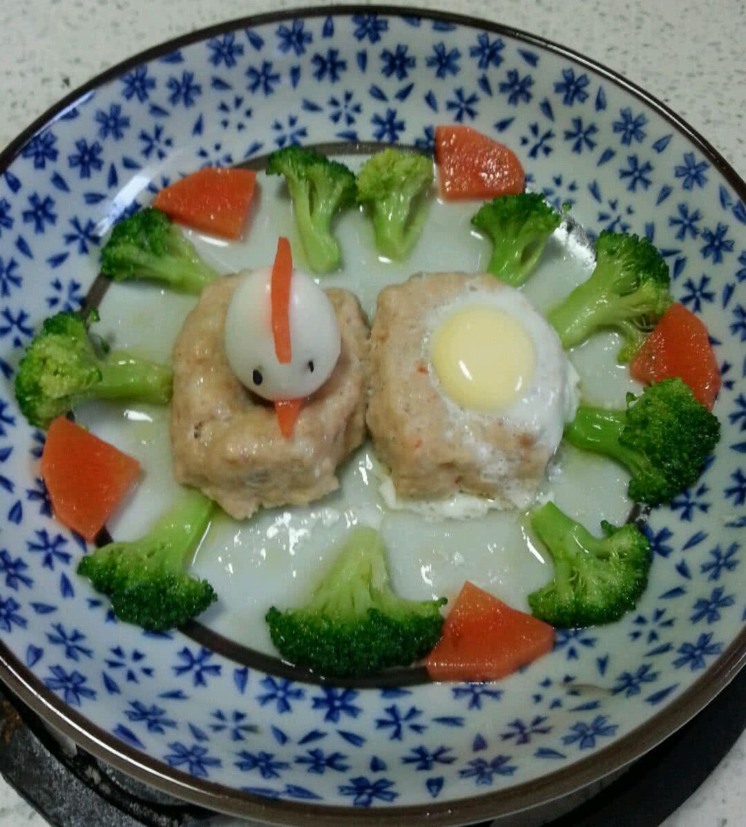 鲜虾鸡茸饼蒸鹌鹑蛋(鸭掌食谱)藤椒做法宝宝图片