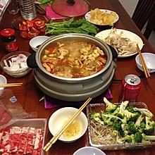 涮羊肉 火锅 家庭聚餐 晚餐