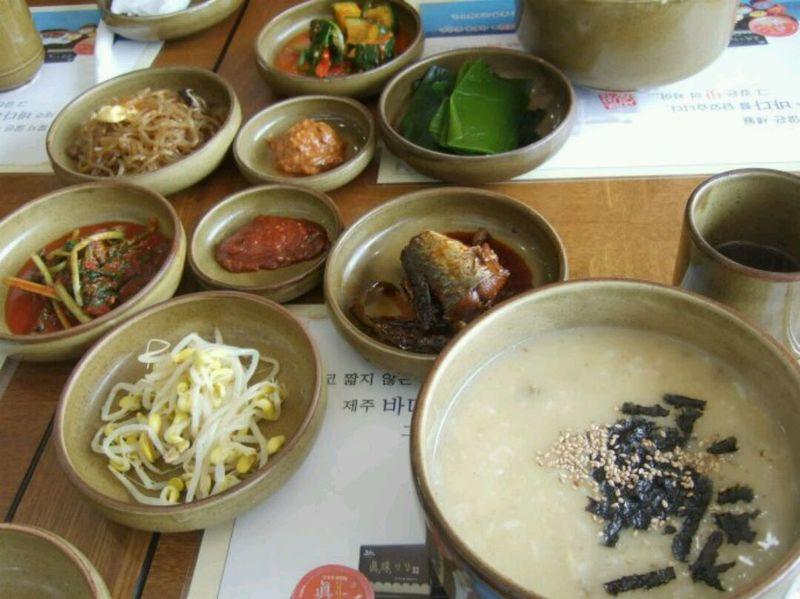 韩式星期粥吃一个木耳鲍鱼图片
