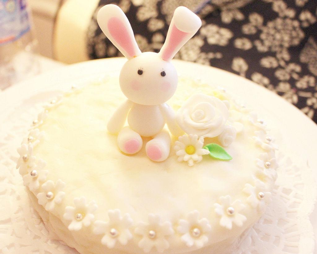翻糖萌小兔蛋糕