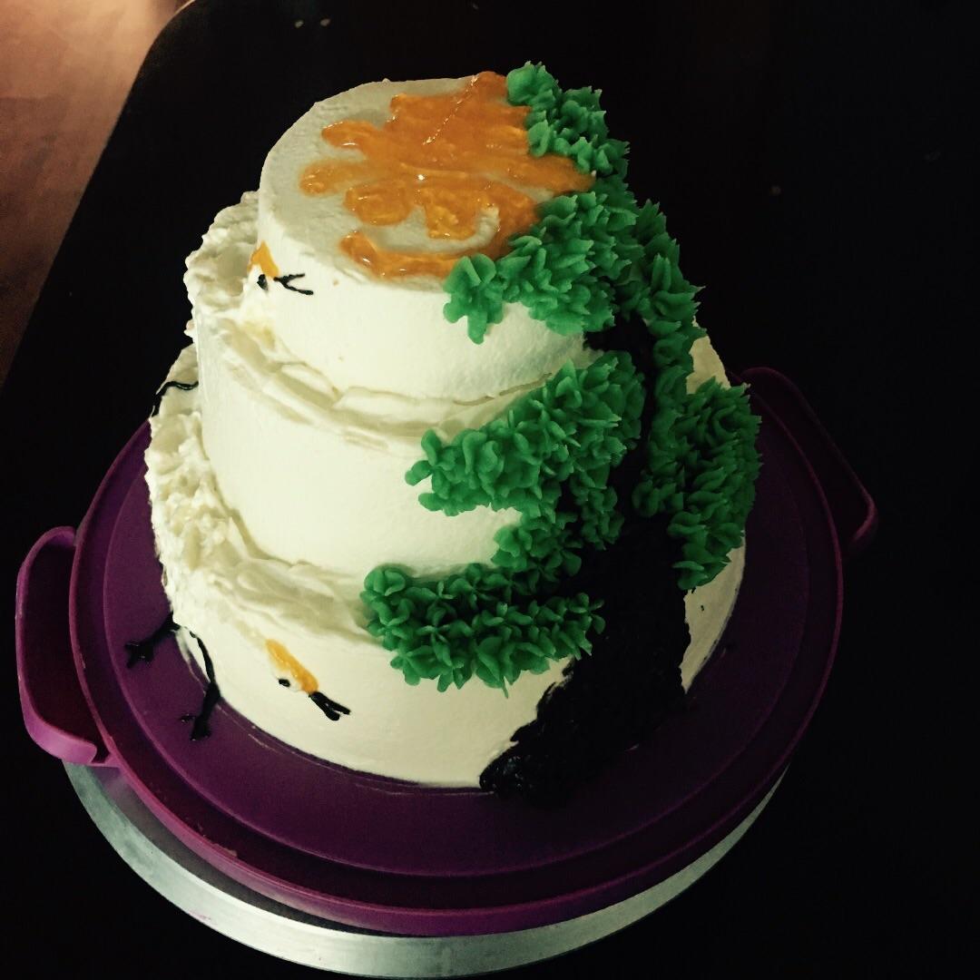 蛋糕的仙鹤图片