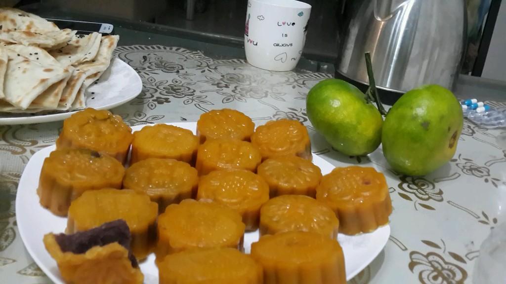 南瓜皮红豆馅月饼的做法图解2