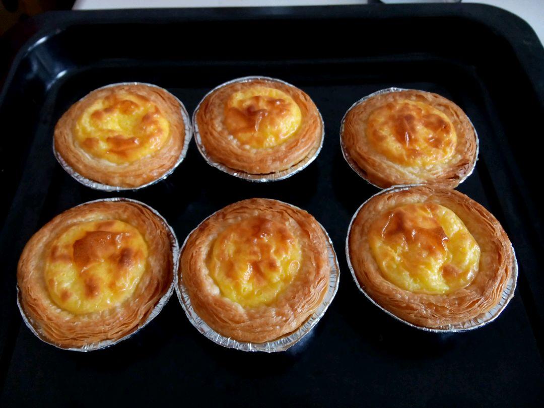 蛋黄1个 低筋面粉4g 糖粉10g 蛋挞皮(大号)6只 蛋挞的做法步骤 1.