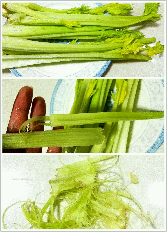 凉拌芹菜的做法步骤
