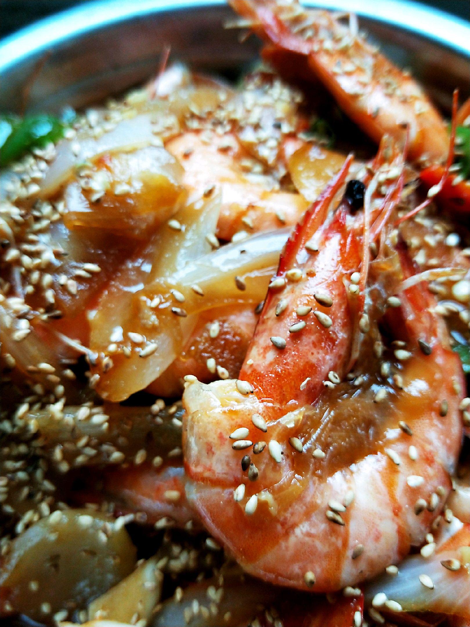 洋葱芝麻虾视频制作专题图片