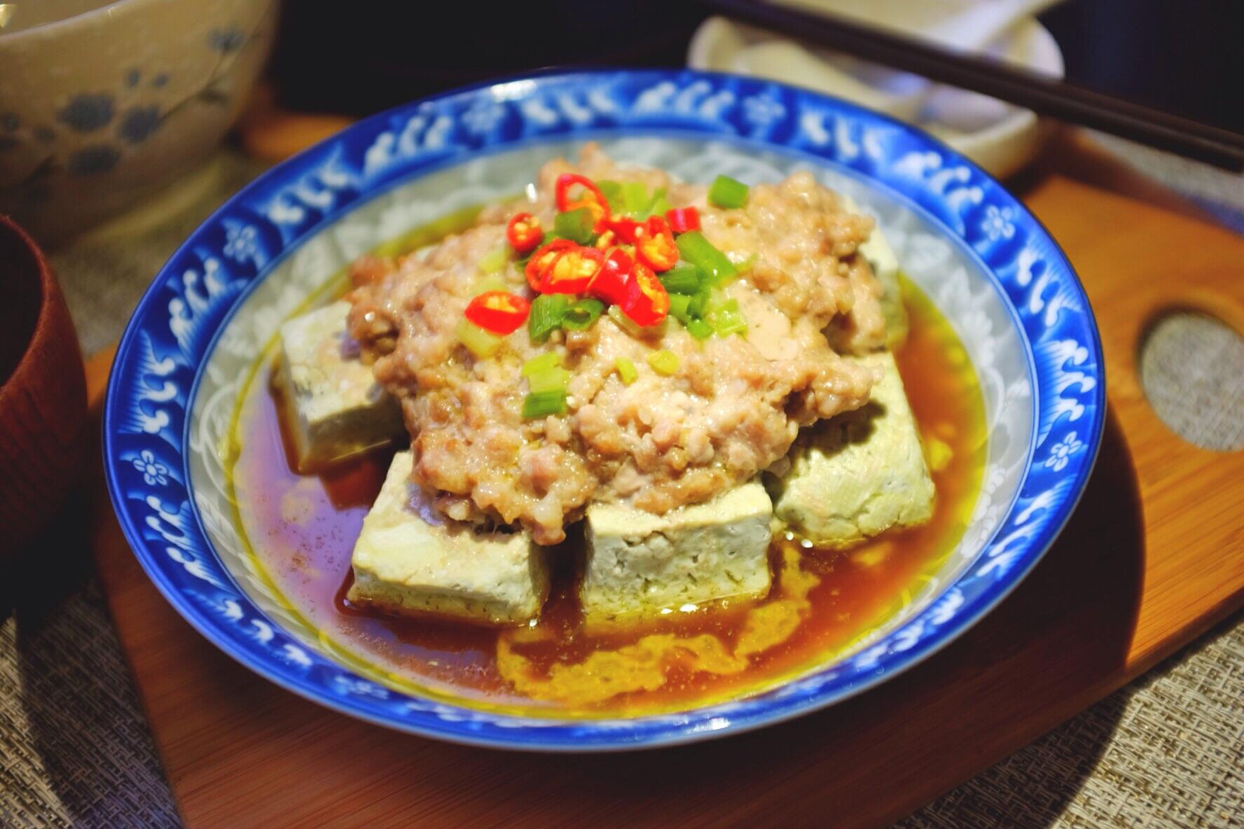 爪子蒸臭豆腐#肉末上首页挑战家常菜#的做法_菜谱_豆鸡我要v爪子图片