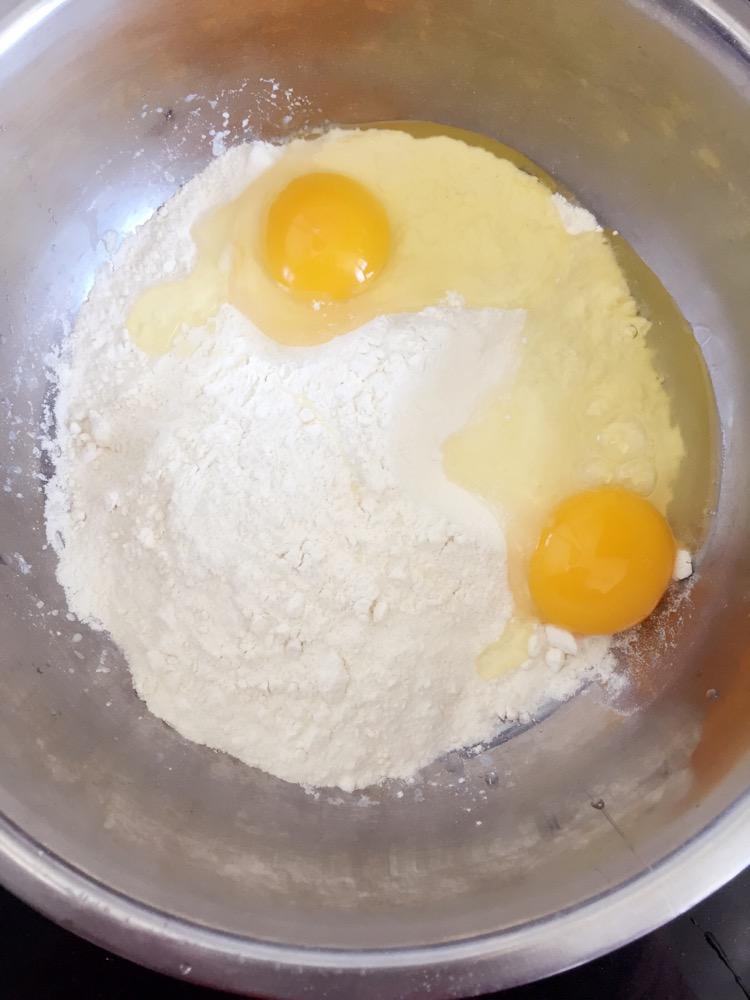 早餐鸡蛋什锦煎饼的做法图解1