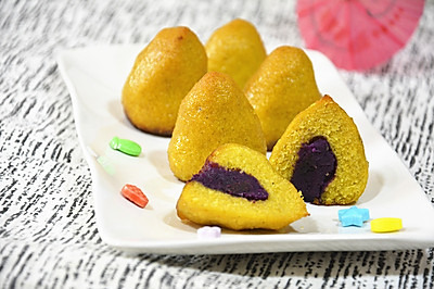 脆皮紫薯窝窝头