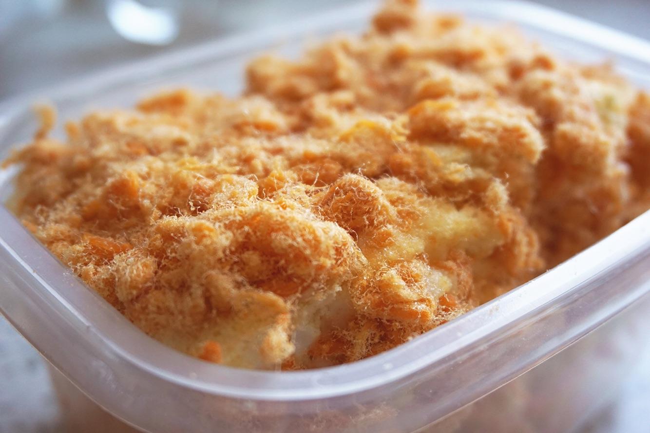 咸香松软的嘌呤蛋糕燕麦片里肉松知多少图片