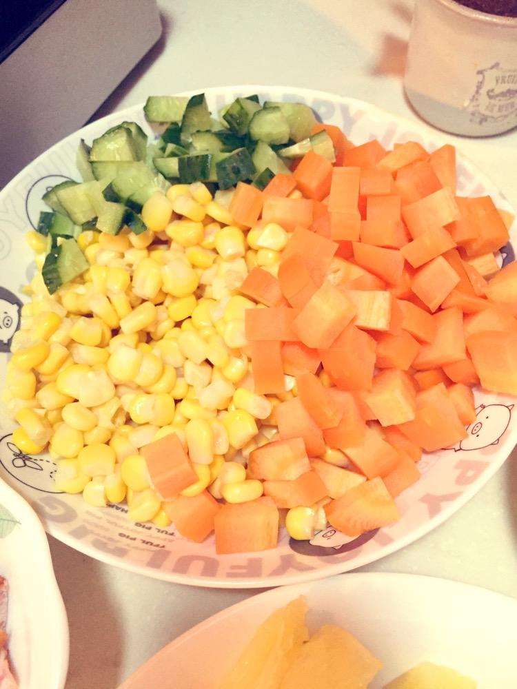 菠萝炒饭的做法图解4