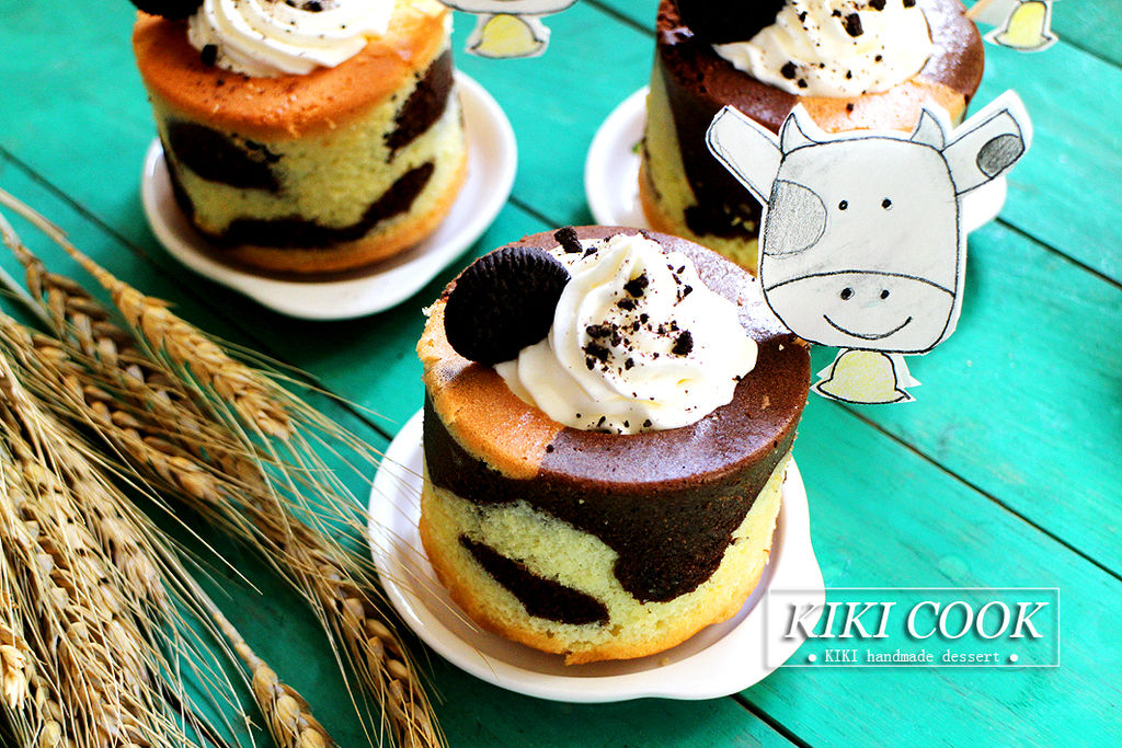 可爱奶牛蛋糕杯#有颜值的实力派