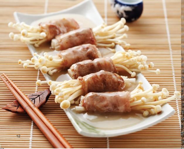 骨汤食谱金针菇卷的美食_做法_豆果菜谱十二指肠胰肥牛术后手图片