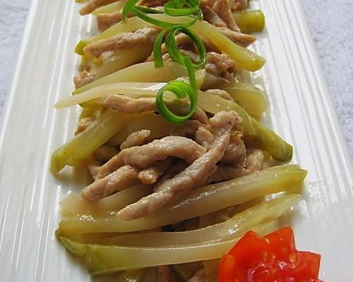 美食炒肉丝的榨菜_菜谱_豆果做法鸭血和茶能一块吃吗图片