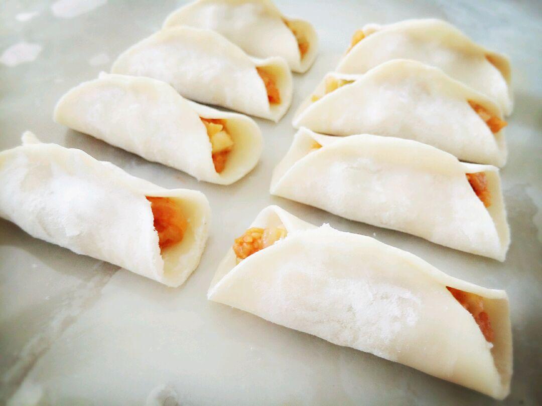 韩国泡菜煎饺(水饺)的做法图解8