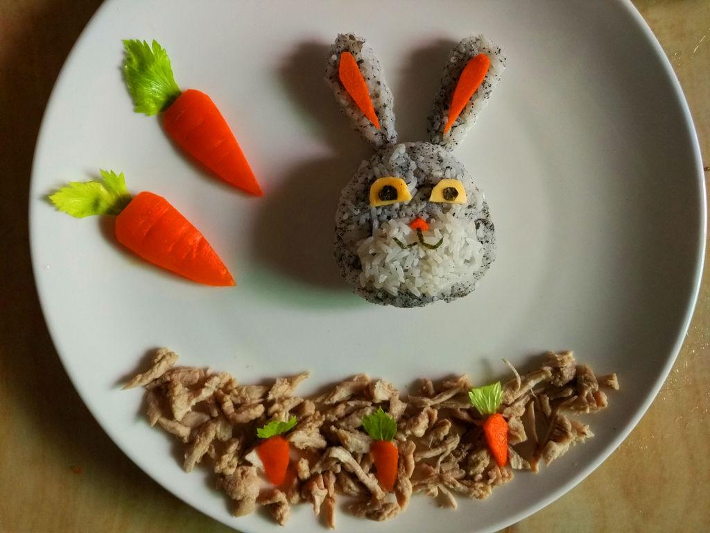 【创意宝宝餐】可爱的朱迪餐盘#黑人牙膏一招制胜