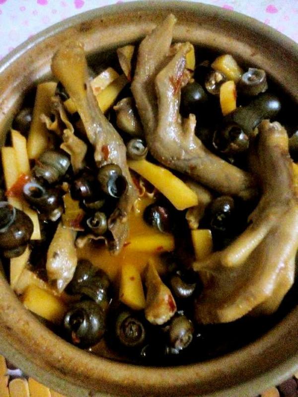 田螺鸭脚煲的菜谱-做法-豆果美食v田螺版鹅肉能同黄豆芽同吃吗图片