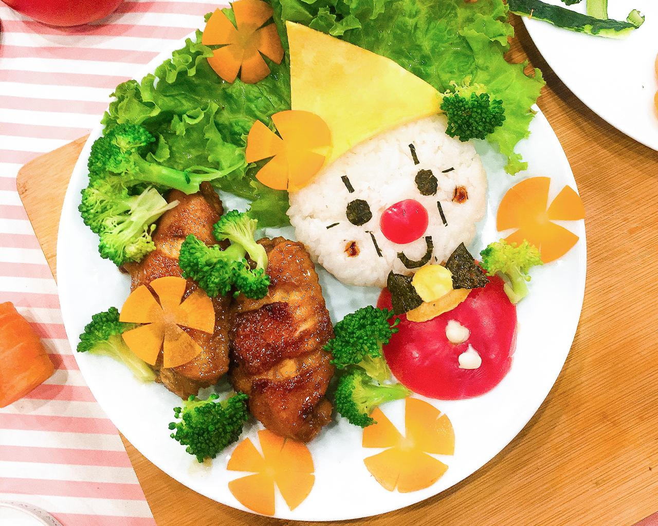 可爱儿童餐:小丑鸡翅,花样美食让小朋友爱上早餐的做法图解9