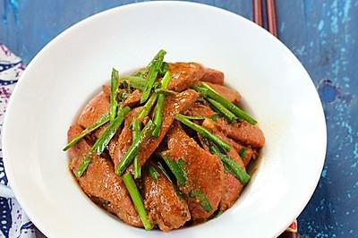 猪肝炒韭菜