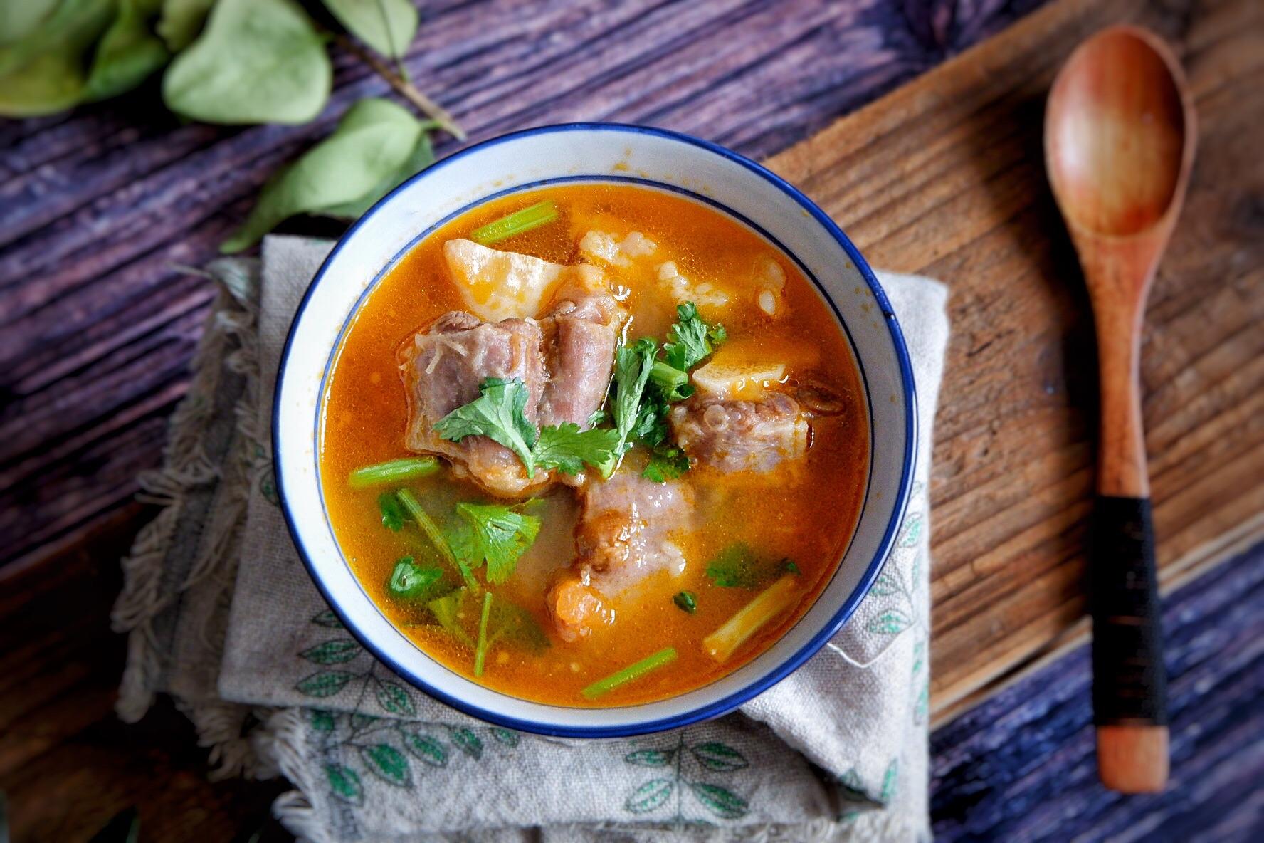 番茄美食汤的牛尾_菜谱_豆果做法瘦猪肉怎么炒熟图片