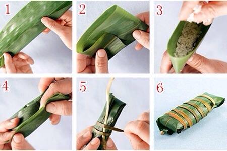 粽子的各种包法的做法图解1