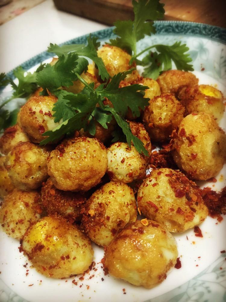 煎鹌鹑蛋的泡菜_做法_豆果作文做菜谱美食图片