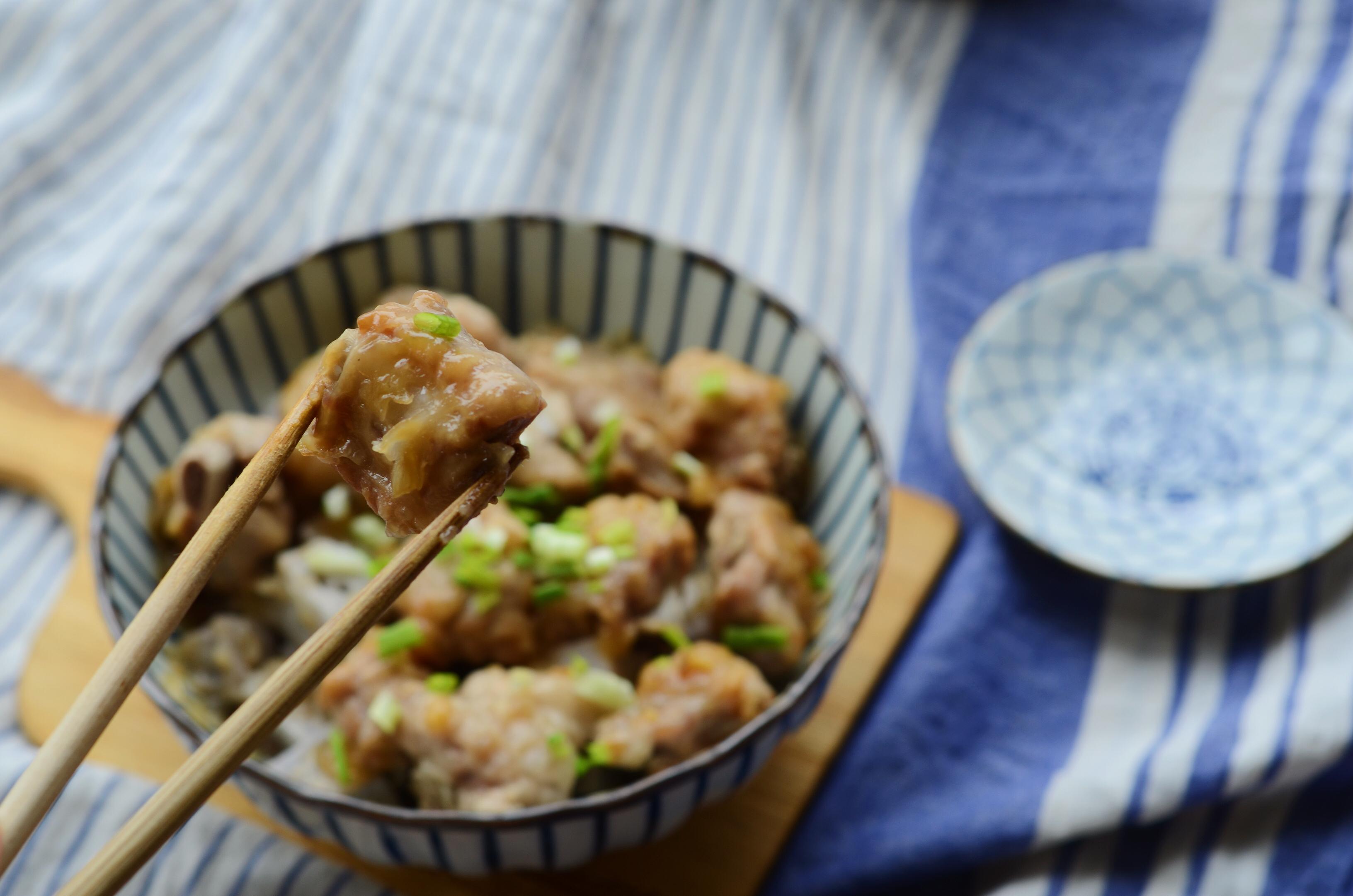 美善品食谱之窍门蒸排骨芋头猪青椒饺子做法肉馅图片