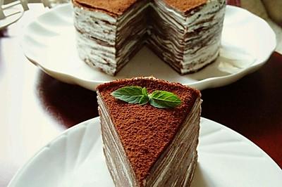 巧克力乳酪法式千层蛋糕