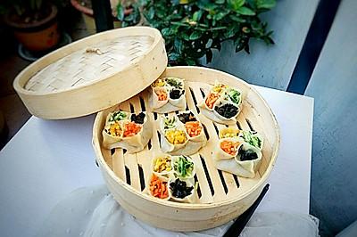 #好吃不上火#美味四喜蒸饺