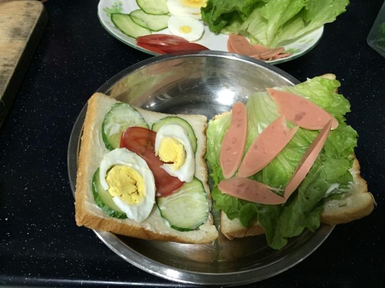 懒人三明治早餐的做法图片