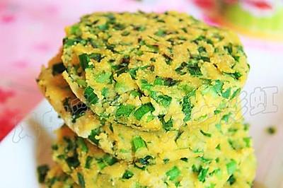 韭菜豆渣饼