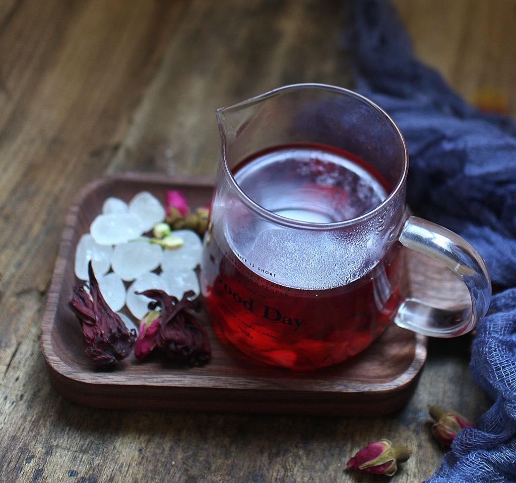 玫瑰洛神花茶的做法步骤