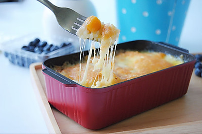 芝士鲜芒焗饭#美的烤箱食谱#