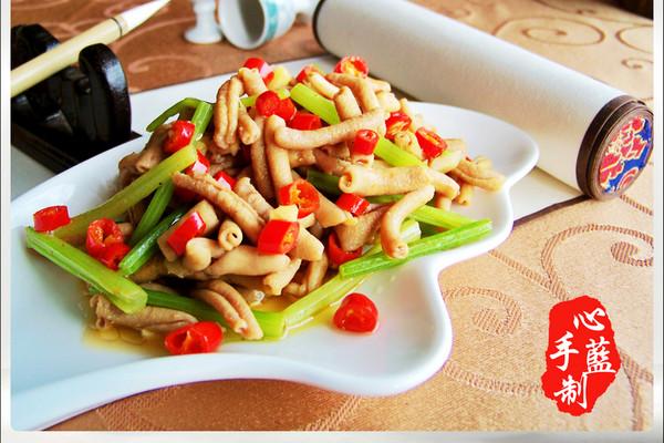 鲜椒鸭肠的做法_【图解】鲜椒鸭肠怎么做如何做好吃