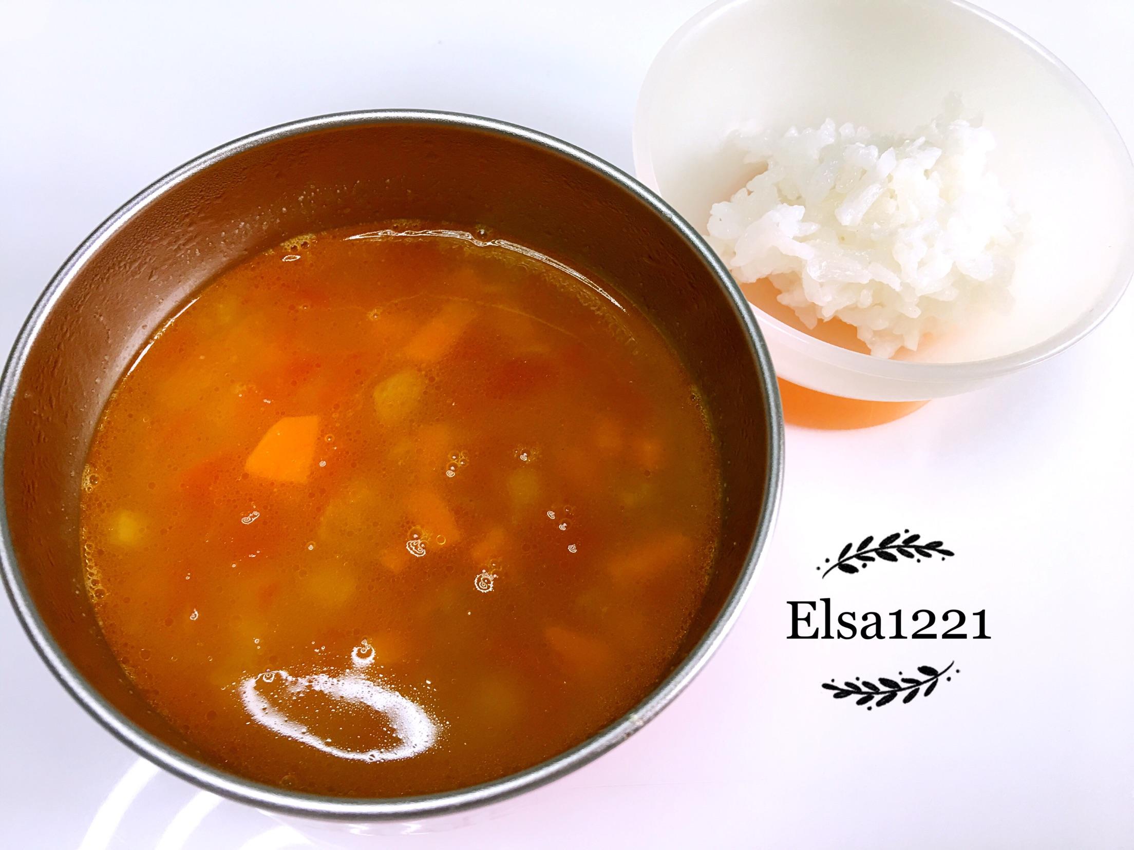 土豆20g 西红柿半个 洋葱10g 胡萝卜20g 黄油5g 宝宝罗宋汤的做法步骤