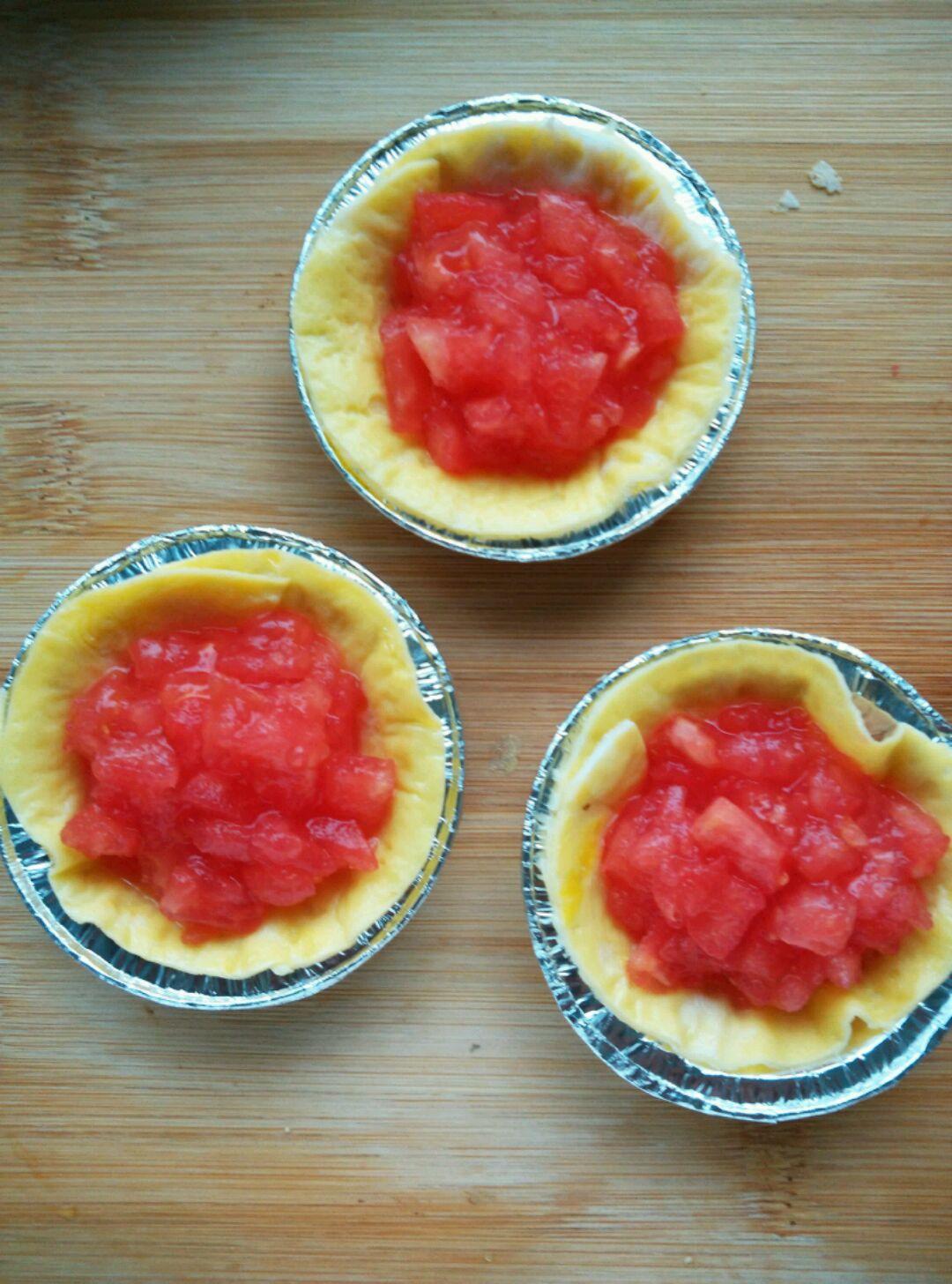 番茄蛋挞#全民赛西红柿炒蛋#的做法图解8