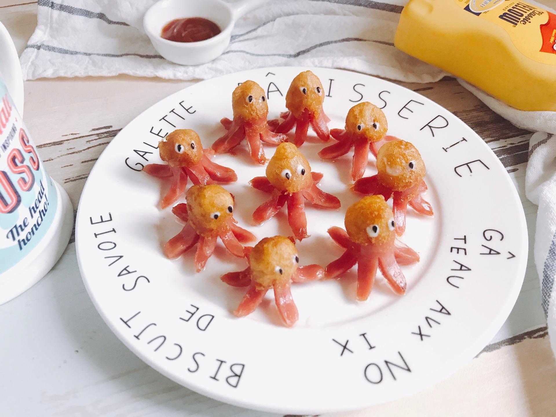萌萌哒章鱼小香肠 哄宝宝滴超可爱小吃 简单快手