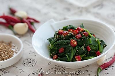 吃出红润肤色----蒜香芝麻菠菜