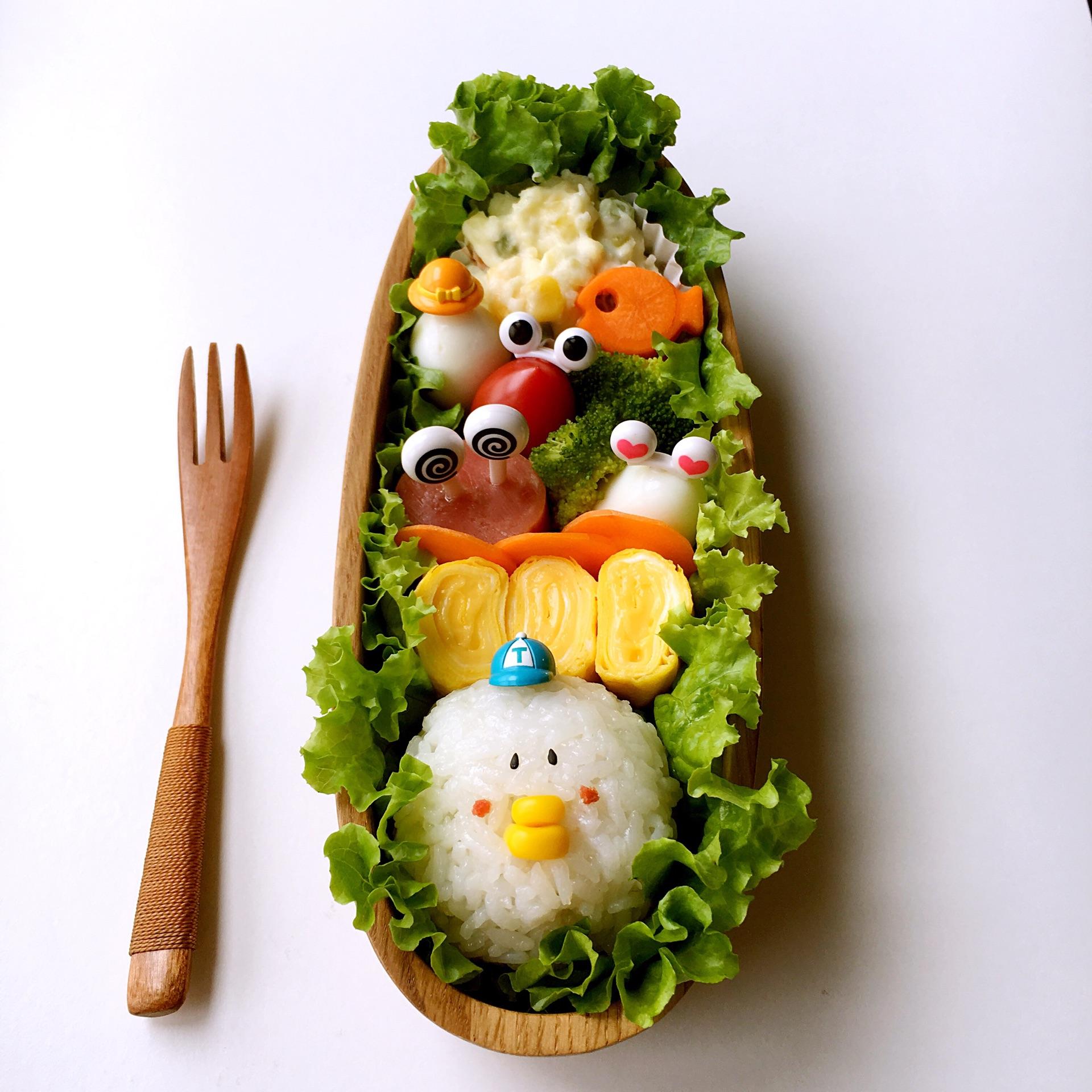 小动物芝士船便当#百吉福食尚达人