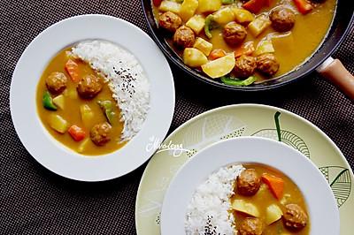 瑞典肉丸椰香咖喱饭#宜家让家更有味#