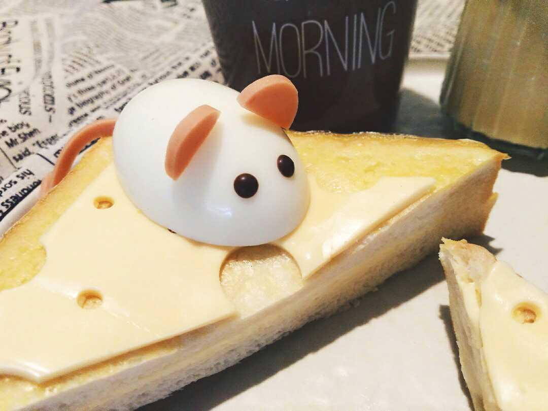 鸡蛋小萌鼠奶酪土司的做法图解1