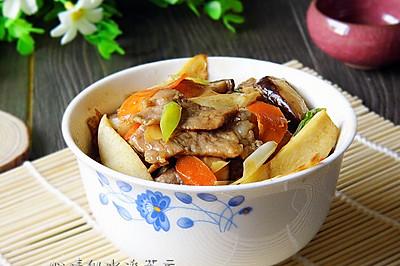 香菇茭白炒肉片