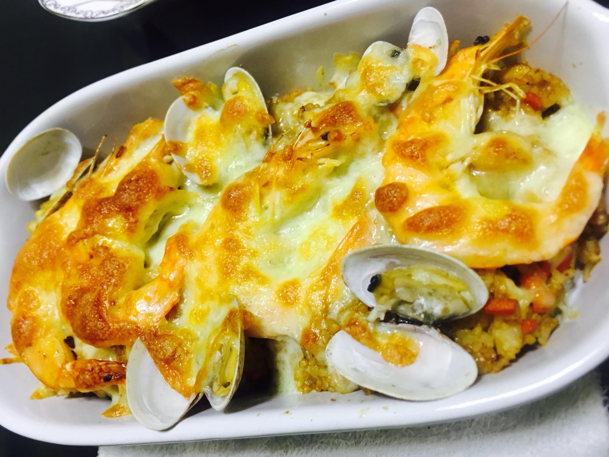 中式海鲜焗饭