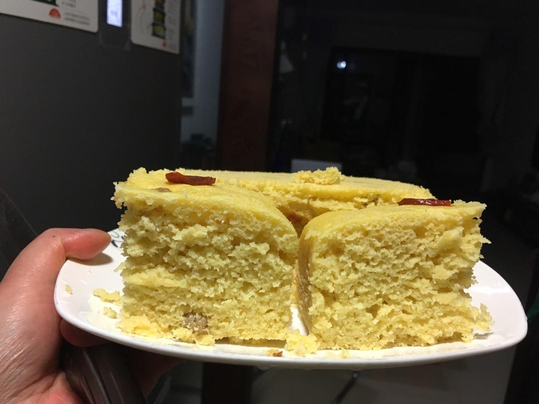 奶香玉米面发糕的做法图解4
