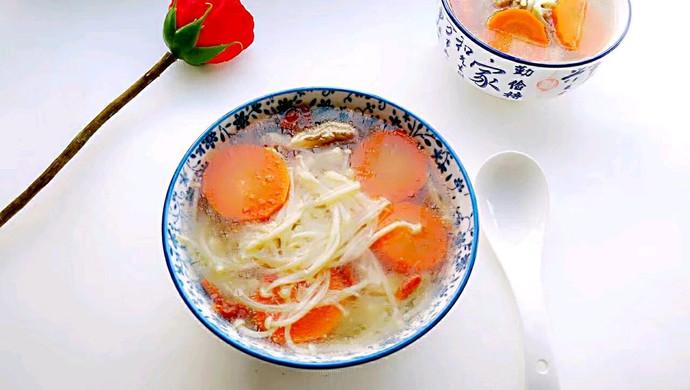 金针菇胡萝卜排骨汤#每道菜都是一台食光机#干贝花蛤虾粥的大全做法图片