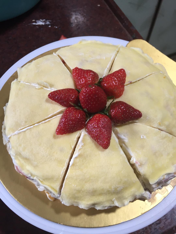 千层蛋糕的做法_芒果草莓千层蛋糕的做法图解16