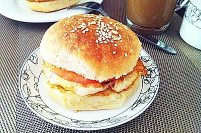 自制早餐汉堡包#熙悦食品高筋小麦粉#