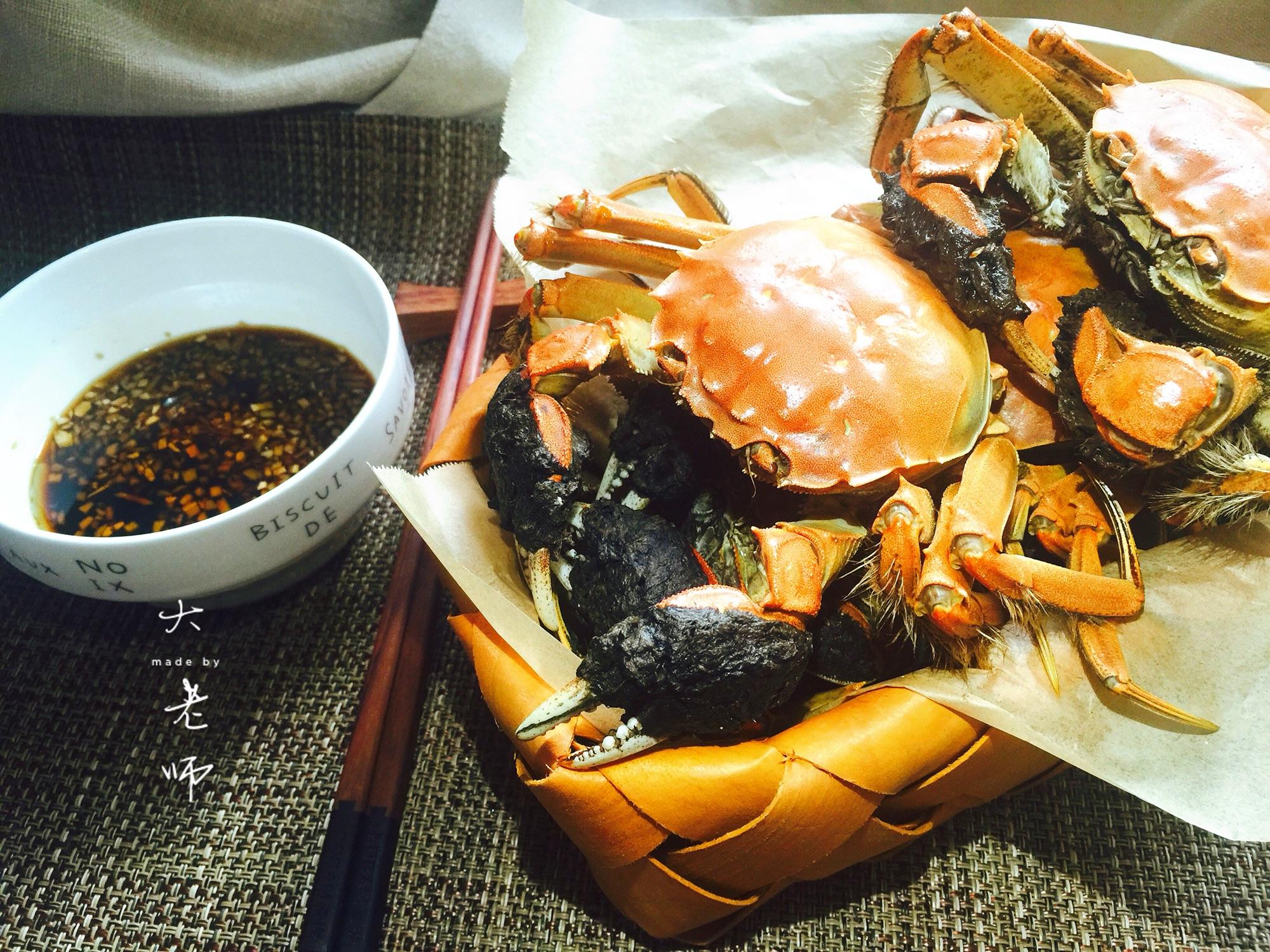 金秋河蟹-特别好吃的清蒸姜汁佐香油美味天天烧烤怎么样家常菜图片